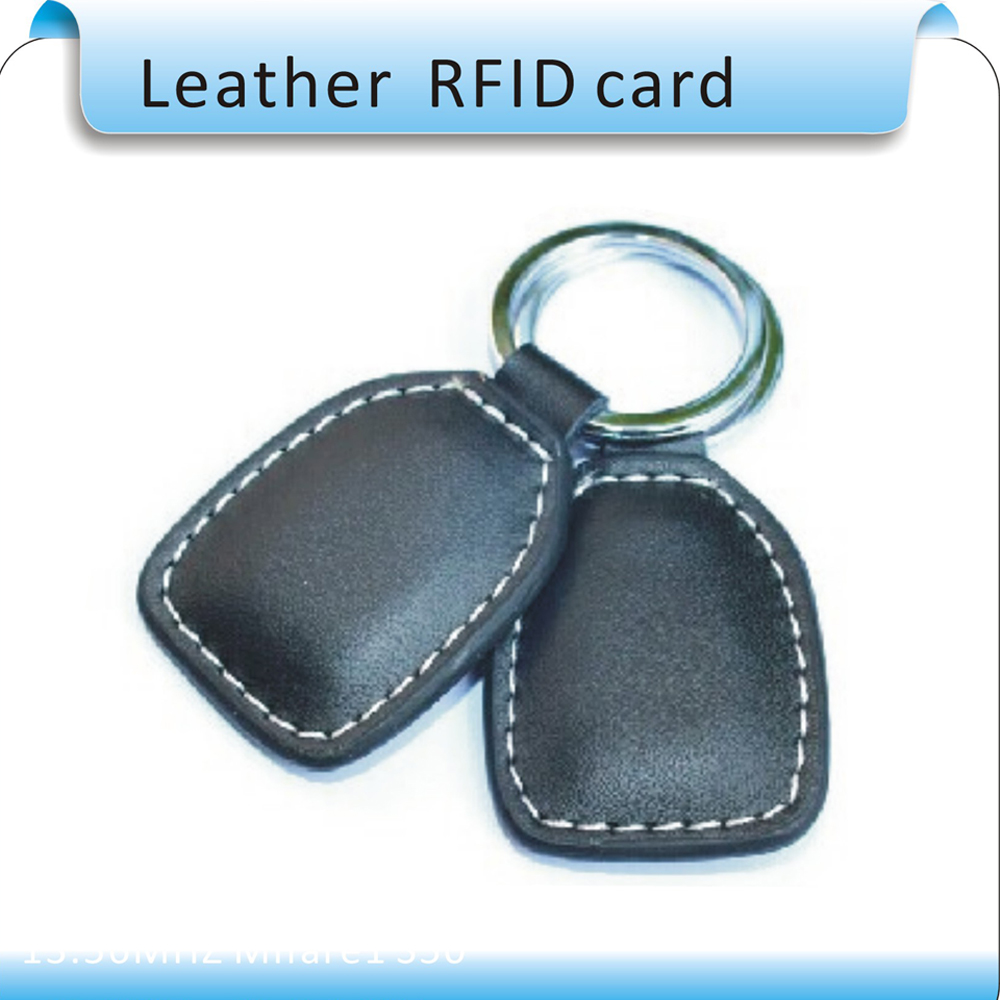 Wholesale 10pcs/lot RFID Proximity Access Control Card rfid tag 13.56MHZ ic CARD ( Leather keychain) цена