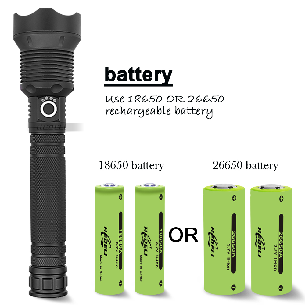 90000 Lumens XHP70.2 Most Powerful Flashlight