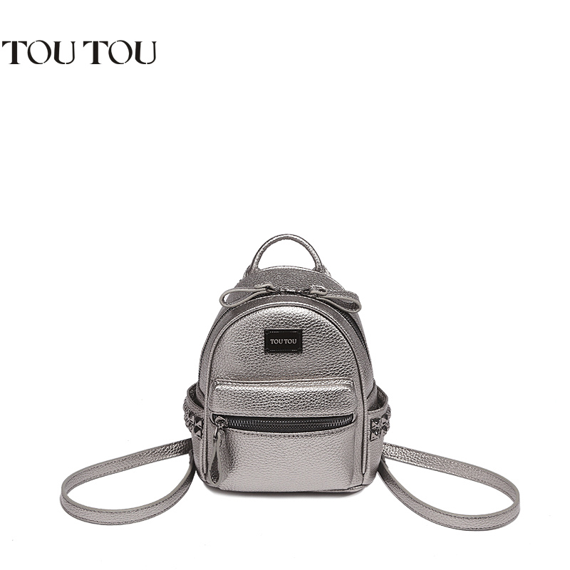 TT001 Women mini Backpack Fashion Youth Leather Backpacks for Teenage Girl s small Female School Shoulder