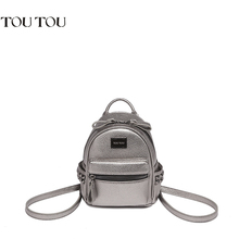 TT001 Women mini Backpack Fashion Youth Leather Backpacks for Teenage Girl's small Female School Shoulder Bag Bagpack mochila