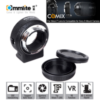 Commlite ENF E1 Electric Lens Mount Adapter Ring AF Auto Focus VR Adjustable Exposure for Nikon F Mount Lens Sony E Mount Camera
