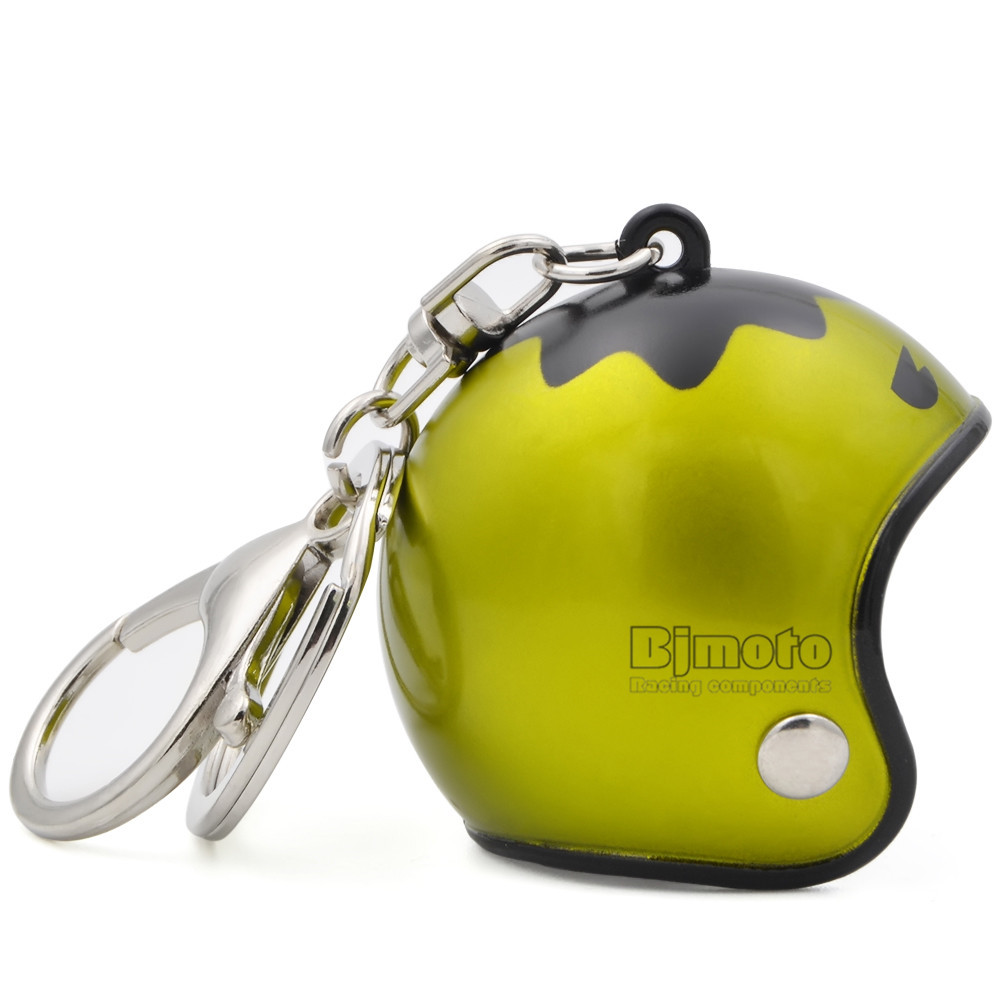 Cool Car Motorcycle Helmet Keychain Key Chains Mini Motorcycle Pendant Keyring Men Women Motorbike Accessories KC-A010 (3)