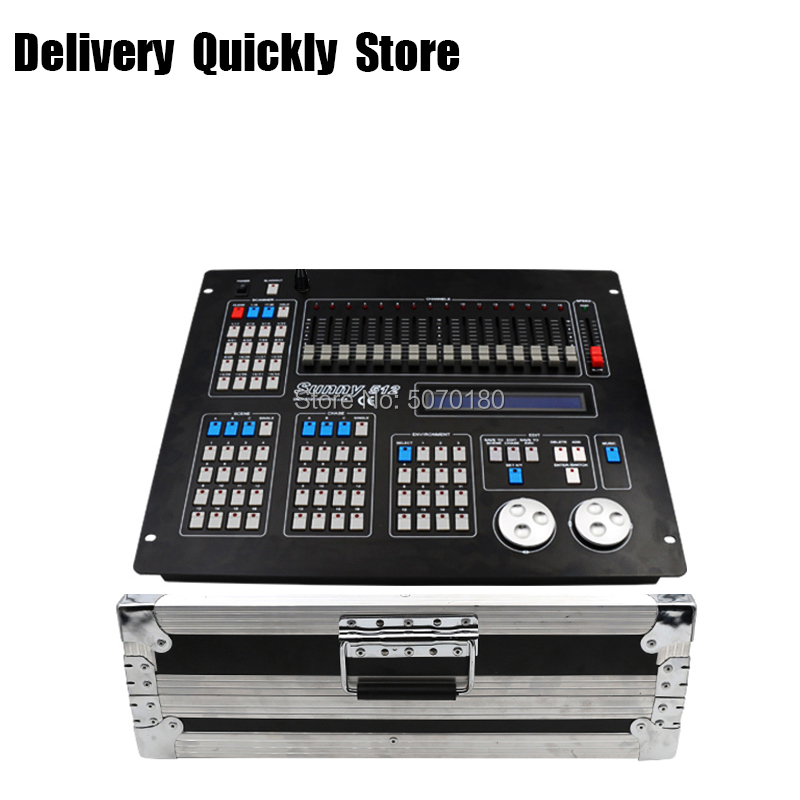 Show Time New Sunny 512 DMX Controller With Flycase Stage Light DMX 512 Master Console Good Use For Led Par Beam Moving Head