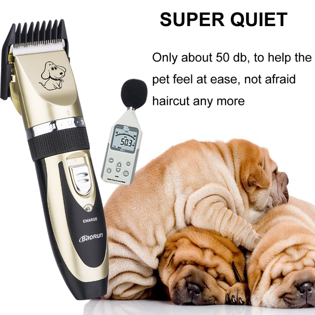 Professional Rechargeable Pet Cat Dog Hair Trimmer Electrical Dog Hair Clipper Grooming Shaver Set Pets Haircut Machine 5