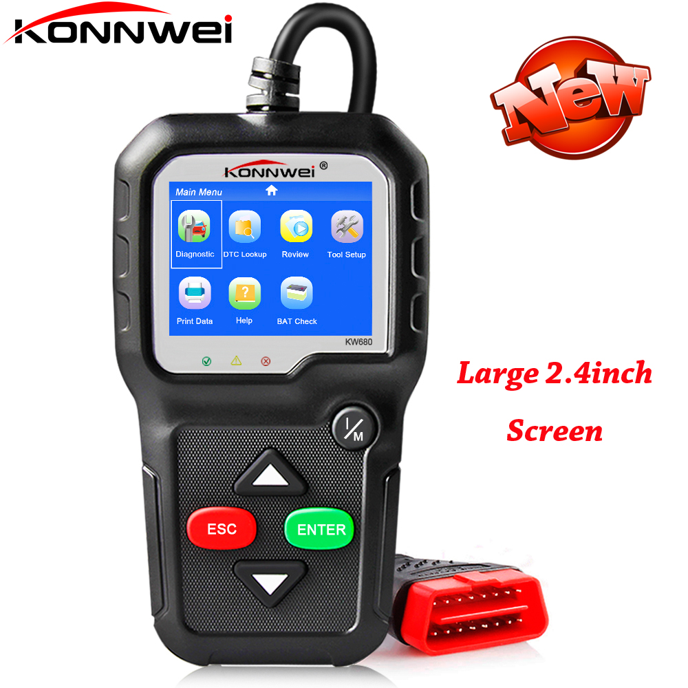 OBD2 Code Reader Scanner KONNWEI KW680 Full Function OBD2 Scanner Auto Multi-language KW680 OBD 2 Automotive Diagnostic Scanner