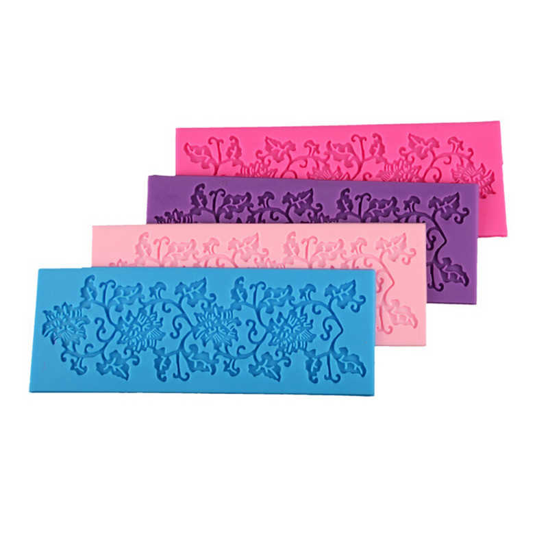 قطعة واحدة قالب سيليكون مزين بأشكال أزهار قالب دانتيل ثلاثي الأبعاد أدوات تزيين السكر اليدوية أدوات خبز أدوات كعك
