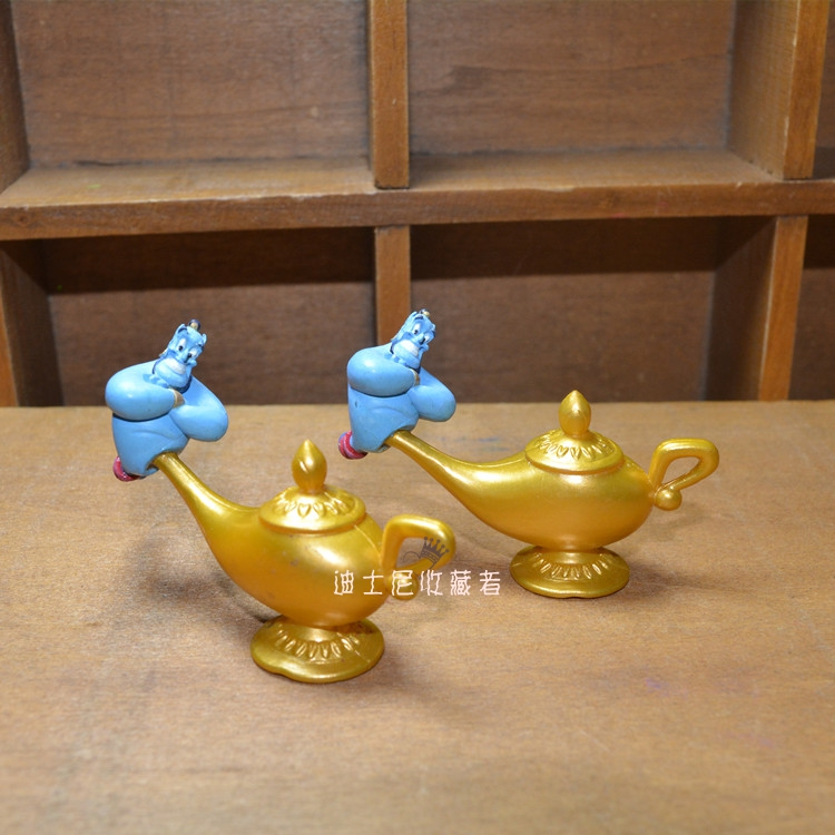 1pcs 4cm original Aladdin and the Magic Lamp small figure toys very cute Magic Lamp collection figure decoration toys