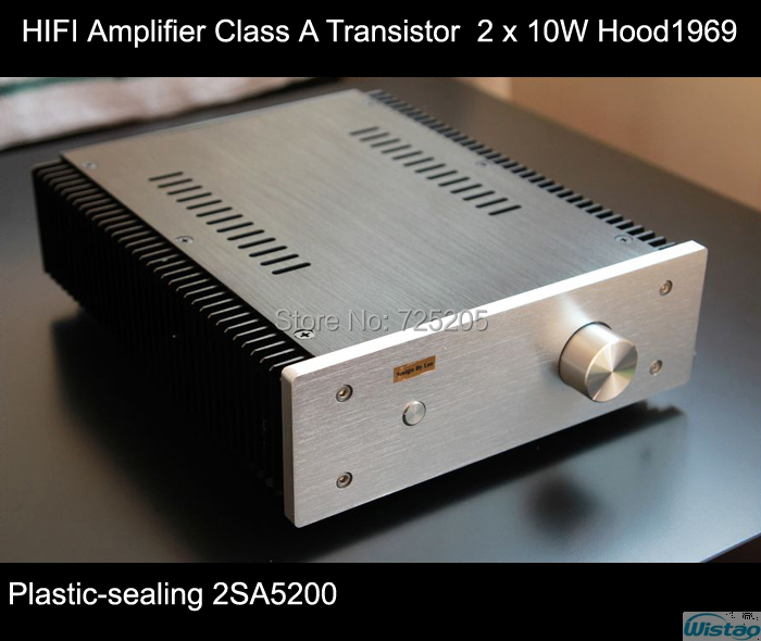 IWISTAO HIFI Amplifier Class A Plastic Seal Transistor 2 x 10W Hood1969 Cir cuit Whole Aluminum Casing High Quality iwistao 2x20w hifi amplifier stereo