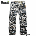 Mens military plateau snow area camouflage pants Men cotton casual trousers cargo pants hip hop pants