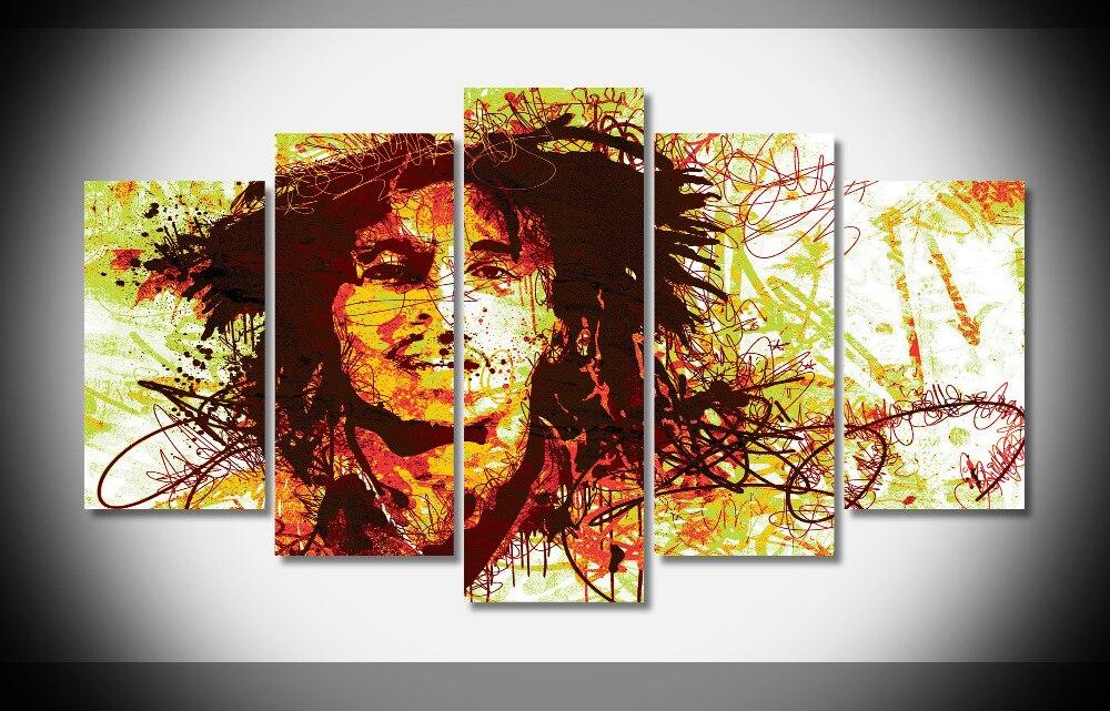 P1528 Bob Marley cartel pared arte cartel impermeable calidad lienzo ...