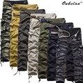 Новые приходят хлопок мужские комбинезоны свободные высокого качества большой мульти код Грузов кармане брюк брюки 7 цвета Бесплатная доставка