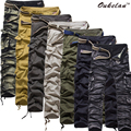 New arrive cotton men's overalls loose high-quality large multi code Cargo pants pocket pants 7 color available Free shipping