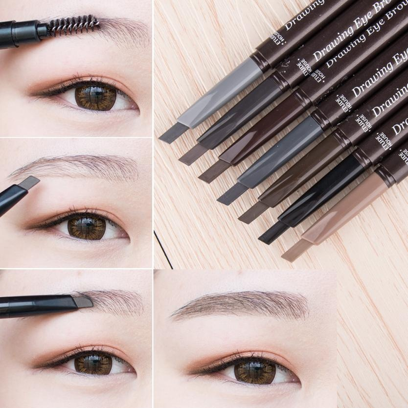 Double Headed Automatic Eyebrow Pencil Waterproof Long-lasting Enhancer Eyebrow Enhancers Natural Smooth Makeup Beauty Tool Gift