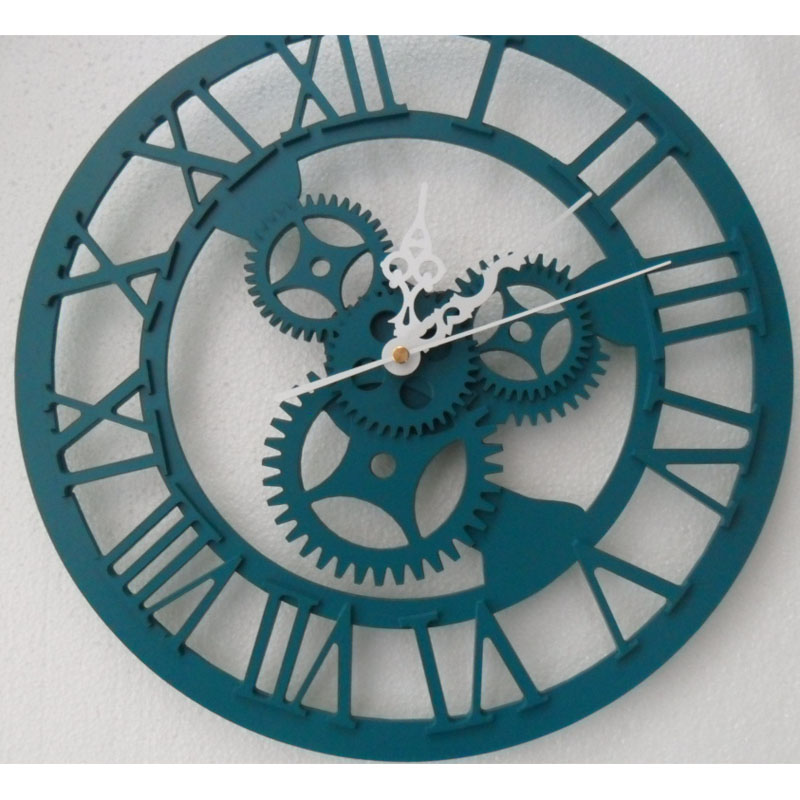 3D Wall Clock Saat Clock Duvar Saati Vintage Digital Wall Clocks - Home Decor