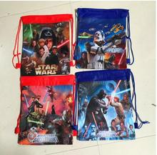 12Pcs Star Wars Darth Vader Drawstring Boys Girls Cartoon School Bag Children Printing School Backpacks for Birthday Party Gifts