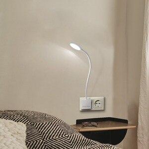 Image 3 - Luz LED de pared con enchufe regulable, lámpara de noche con brazo oscilante y enchufe de salida de potencia de 4W, 350LM, iluminación blanca Natural de 5000K