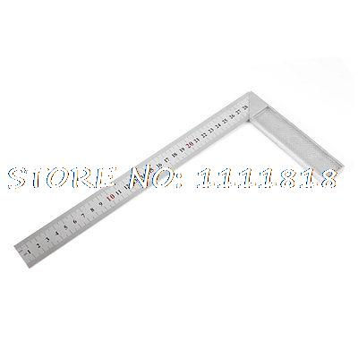 30cm 12 Inches 90 Degree Right Angle L Shaped Square Ruler Tool silver tone 90 degree angle 125 x 80mm bladed try mitre square tool