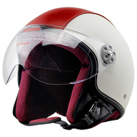 VOSS 3 4 Motorcycle Helmet Motorcross Full Face Vintage Helmet For Scooter Leather Crash Helmet