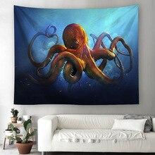 купить Seabed Octopus Tapestry Bohemia Boho Mandala Tapestry Wall Hanging for Wall Decoration Hippie Tapestry Beach Towel Yoga Mat по цене 594 рублей