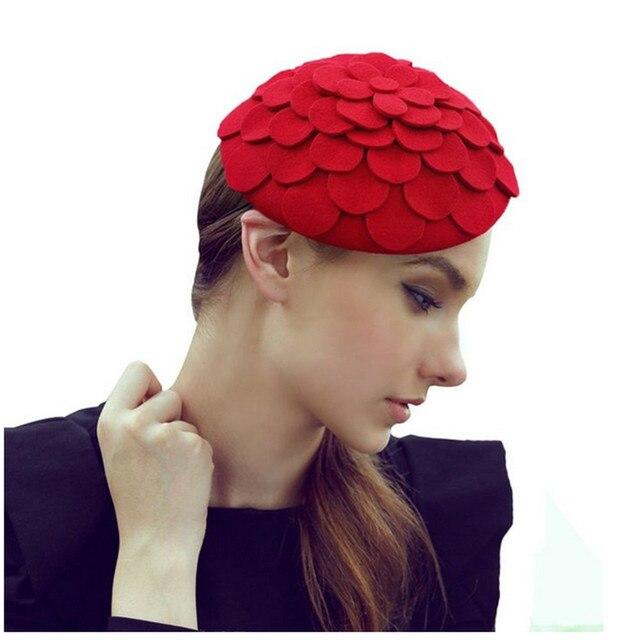 Retail Women Fedora hats Dome cap Ladies dress hats Womens caps felt hats  wool felting Bowler hat fe0939a56da