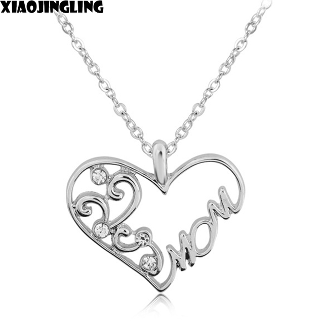 xiaojingling personalized necklace crystal heart silver crystal