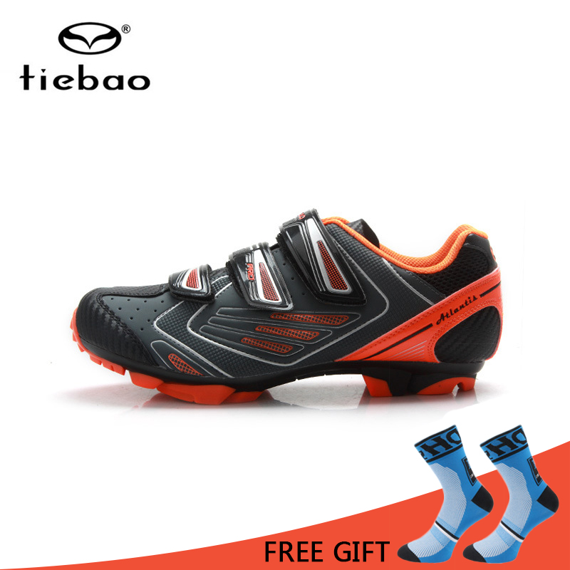 Tiebao MTB Cycling Shoes Non Slip TPU Sole Bike Shoes Men Breathable Wear Resisting Bicycle Self