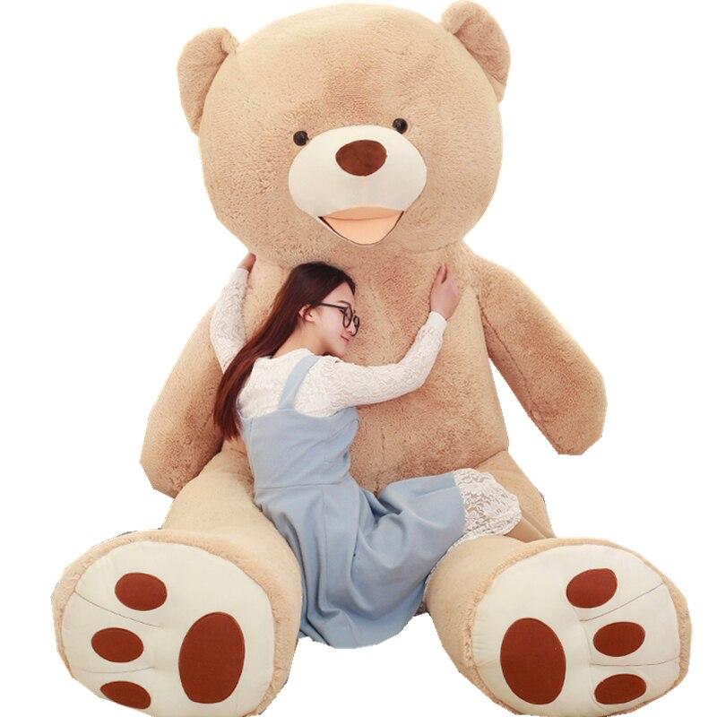 Énorme taille 260 cm USA géant ours en peluche en peluche doux ours en peluche peau anniversaire populaire et cadeaux de saint-valentin pour les filles jouet d'enfant