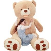 Enorme tamaño 260 cm ee.uu. gigante oso de peluche de felpa de juguete peluche suave piel popular cumpleaños y regalos de San Valentín para Niñas juguete del cabrito