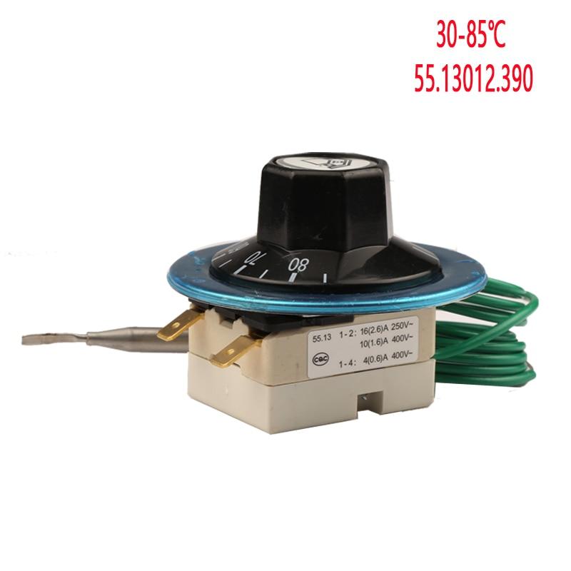 30–85 laipsnių Celsijaus Vokietija EGO kapiliarinis termostatas 55.13012.390, skirtas indų plovimo mašinos elektriniam vandens šildytuvo šiluminiam jungikliui 16A 250V