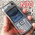 Remodelado original nokia n70 mobile telefone celular & russian arabic keyboard & um ano de garantia