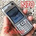 Restaurado original nokia n70 mobile cell phone teclado ruso árabe y un año de garantía
