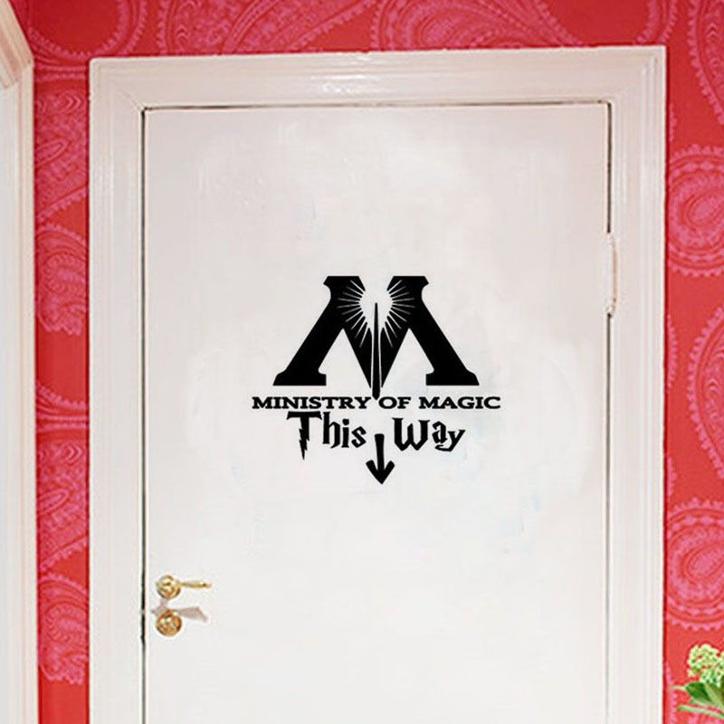 Ministry of Magic This Way Vinyl Decal Sticker Wall Quote Art Wall Stickers Home Decor Toilet Sticker