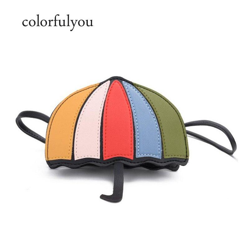 Cartoon Umbrella Shape Kid Bag S