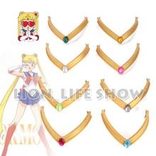 Sailor Moon Tsuking Usagi Sailor Mars Chibichibi Moon Jupiter EVA G Headwear Headband Tiara Cosplay Accesseries