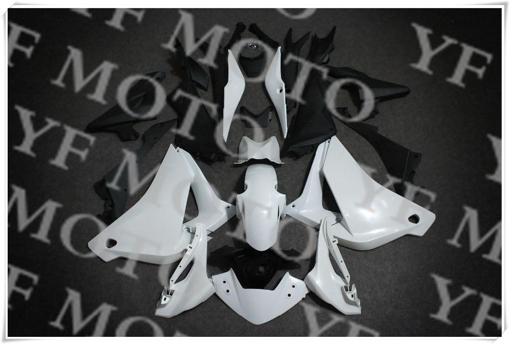 ツ)_/¯Nueva motocicleta ABS blanco carenado sin pintar Cuerpo Kit de ...