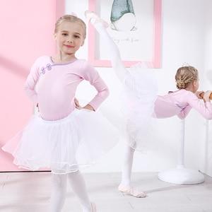 Image 5 - バレエレオタード綿バレエドレスキャミソールトレーニング服チュチュダンスウェア体操スーツ弓子供ガーゼ