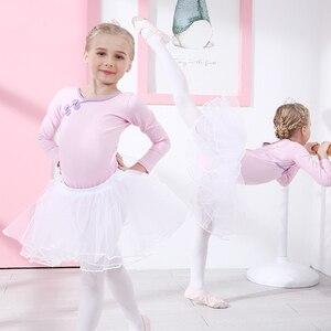 Image 5 - Ba Lê Leotard Cotton Ba Lê Đầm Yếm Bé Gái Quần Áo Tập Tutu Dancewear Thể Dục Dụng Cụ Phù Hợp Với Nơ Kid Bộ Trang Phục Gai