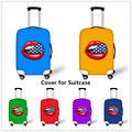 FORUDESIGNS Candy Color Cartoon Sexy Lips Luggage Protective Cover bagage Cover Elastic Suitcase Protection Covers