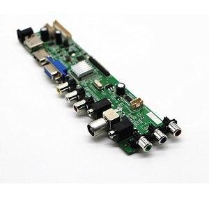 "Image 2 - DVB T2/dvb t/DVB C LCD سائق التلفزيون الرقمي تحكم مجلس عدة ل 15.6 ""40 دبابيس LCD B156XW02/LP156WH2/LP156WHB/LP156WH4 1366*768"