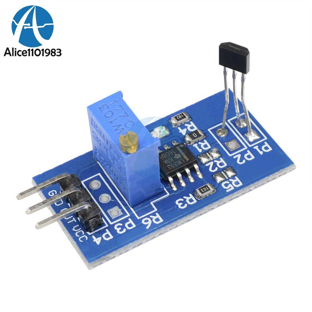 LM393 Hall Sensing Probe Hall Switch Sensor Module Motor Speed Test 5V/3 3V  Magnetic Detect Car For Arduino PCB board