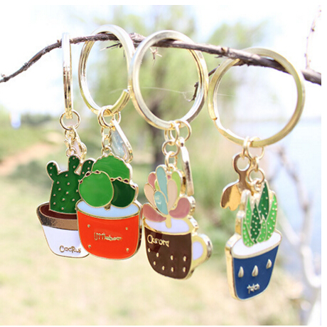 Timlee X172 Free shipping Cute Succulent Potted Aloe Vera Alloy Key Chains,Fashion Jewelry Wholesale ...
