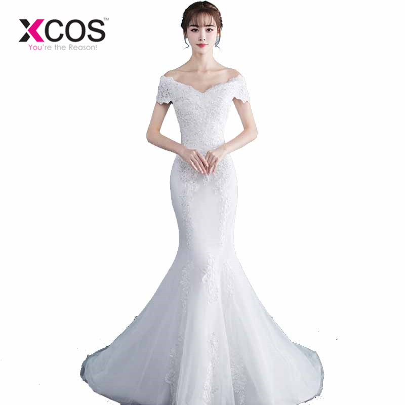 786ebb672b4 Shop Online China Wedding Gowns 2018 Lace Mermaid Bridal Wedding Dress.  Loading zoom