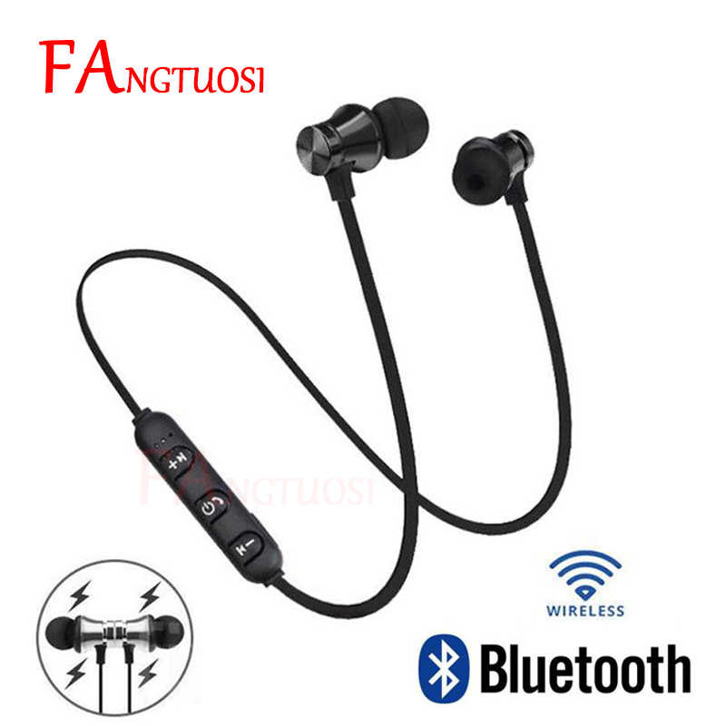 FANGTUOSI Newest Wireless bluetooth earphone XT11 Magnetic sport headset with Mic stereo earbuds earphone For All Smart Phone