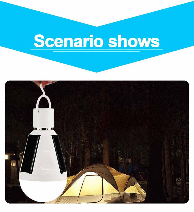 Светодиодный лампа аварийной сигнализации E27 светодиодный Солнечная светодиодные лампы 7 Вт 12 Вт 85 В постоянного тока-265 V Открытый запасной Солнечный солнечные лампы кемпинг Пеший Туризм Рыбалка Свет