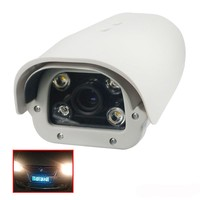 Onvif 1080P 2MP Fixed Lens Vehicles License Plate Recognition LPR IP Camera Outdoor IR LED For