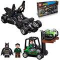 306pcs 2016 NEW LEPIN new Super Heroes Batmobile Kryptonite interception Batman Luthor Model Building Blocks Kit  FiguresToy