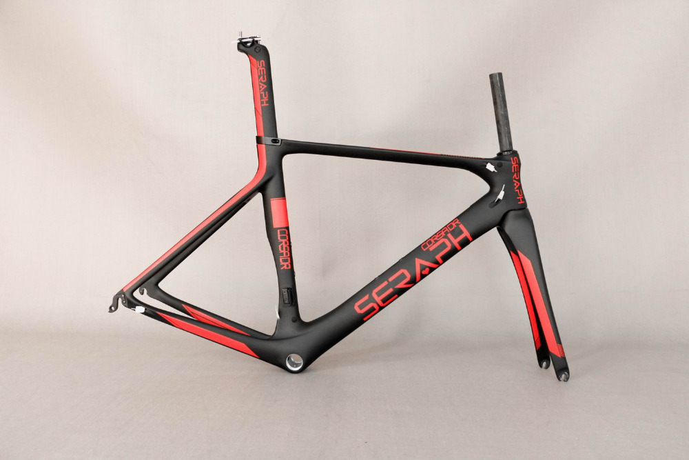 SERAPH Aero design road frames carbon bike parts carbon bicycle frame with inner cable fm268 , accept paint bicycle frame . aero bb86 full carbon frame t800 full carbon fiber road bicycle frame high quality seraph carbon bike frame wholesale frame
