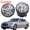Cawanerl For Infiniti Q Q60 Q70 2011 2014 Car Accessories LED Fog Light 4000LM 6000K White