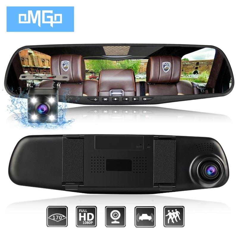Dash caméra de voiture dvr double len arrière rétroviseur auto dashcam enregistreur registrator dans la voiture vidéo full hd dash cam Véhicule deux caméra