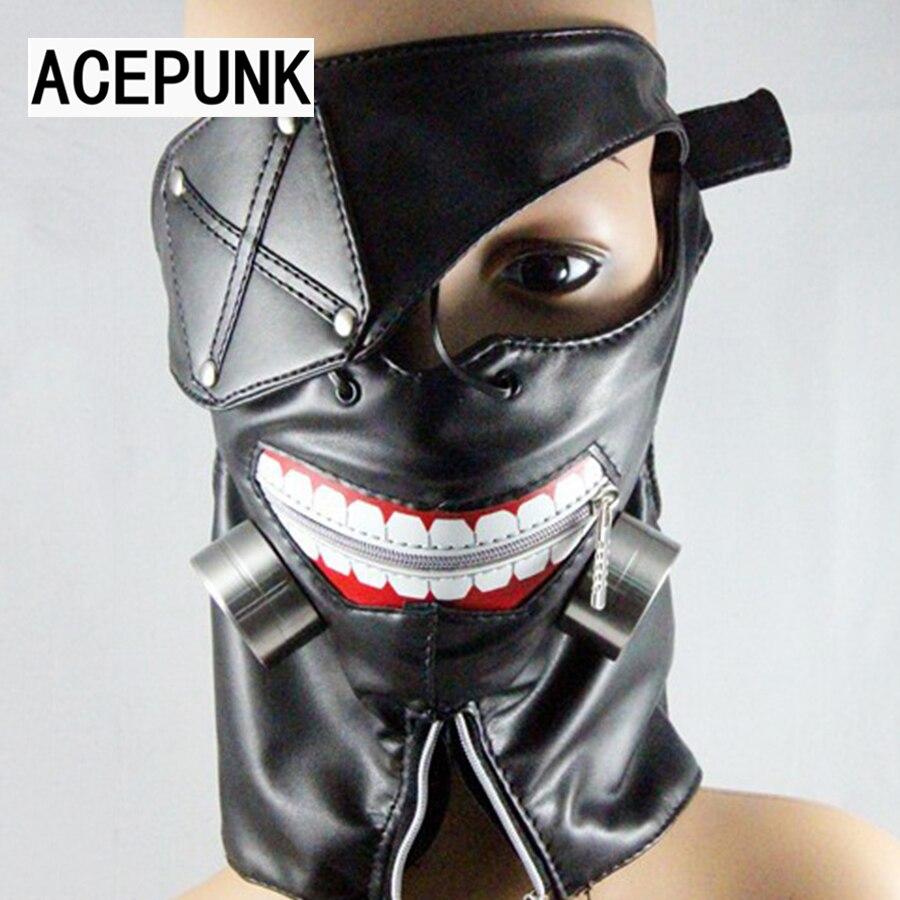 Tokyo Ghoul Ken Kaneki Zipper Mask Prop Cosplay Costume Halloween Party Gift